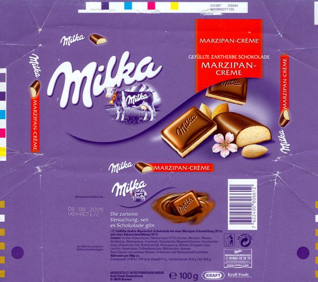 Chocolate wrapper #2059: Germany, Milka 2004