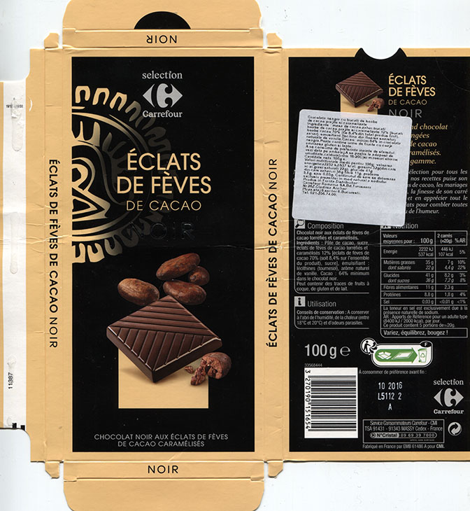 Chocolate Wrapper 5440 France Carrefour 2015