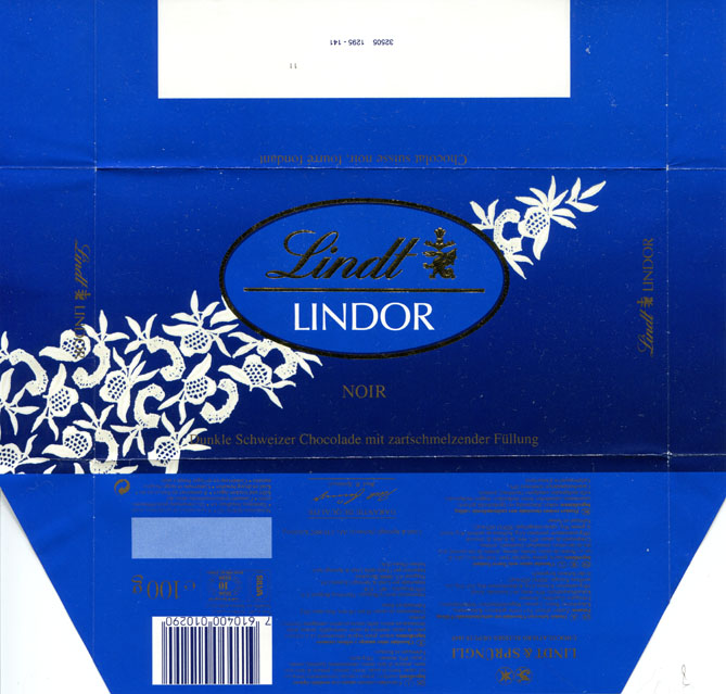 Chocolate wrapper #3443: Switzerland, Lindt&Sprungli 0
