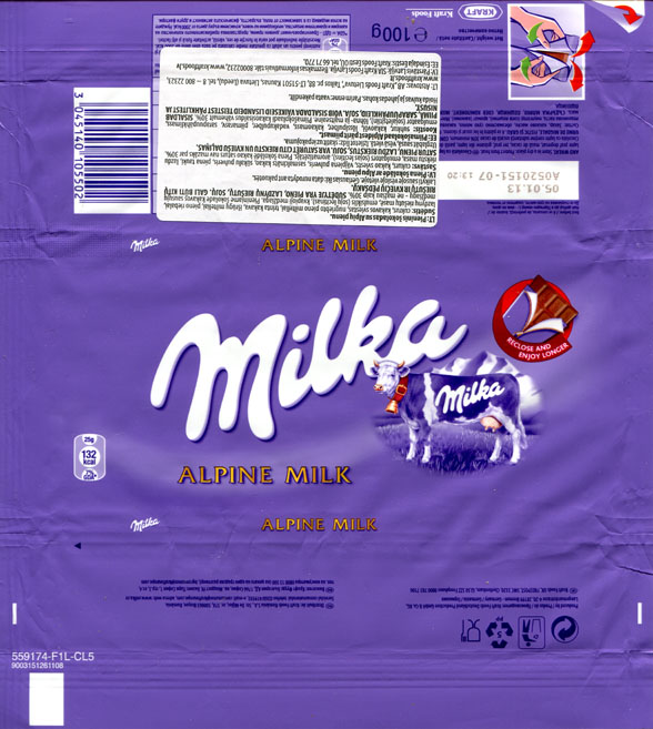 List Of Milka S Chocolate Wrappers 2012 Year