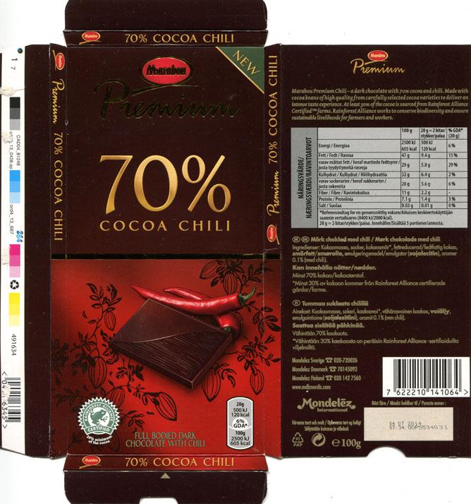 Chocolate Chili Chili Dark Chocolate With