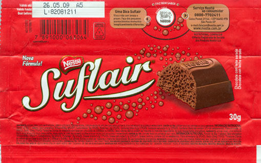 Chocolate wrapper #2813: Brasil, Nestle Brasil 2008