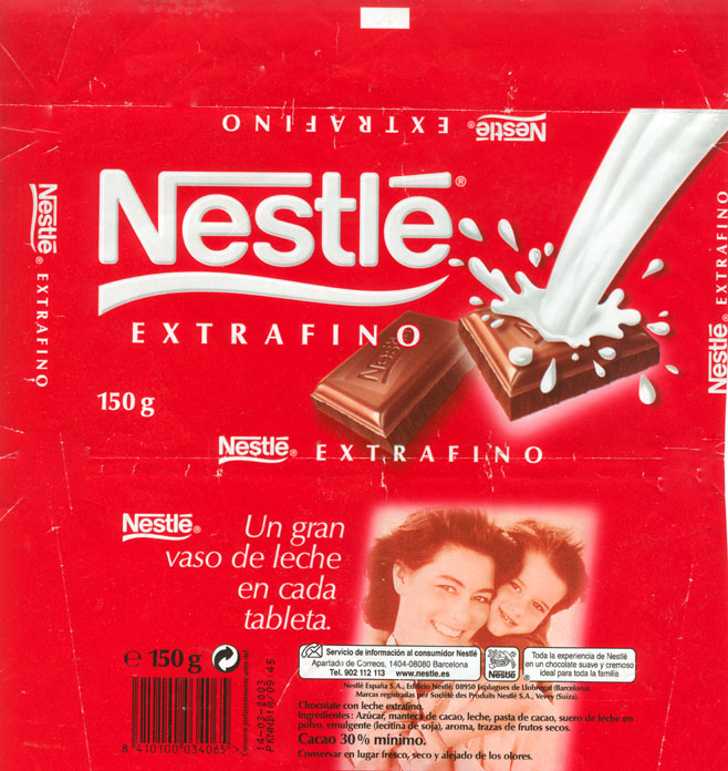 Chocolate wrapper #2237: Spain, Nestle Spain 2002