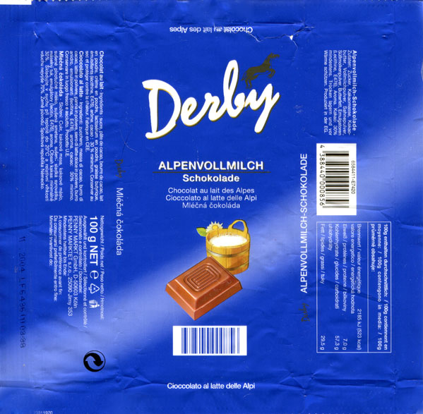 Chocolate wrapper #3541: Germany, Penny Markt GmbH 2003