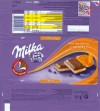 Milka, Alpine milk chocolate filled with a caramel flavoured milk filling and a caramel flavour filling, 100g, 27.08.2008, Kraft Foods Manufacturing GmbH & Co.KG, Bremen, Germany