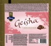 Geisha, milk chocolate with soft hazelnut filling, 100g, 18.03.2014, Fazer Makeiset, Helsinki, Finland