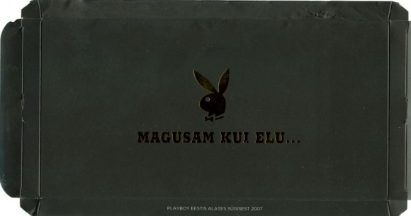 Magusam kui elu... playboy, milk chocolate, 300g, 2007, AS Kalev Chocolate Factory for Playboy Eesti, Lehmja, Estonia