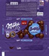 Milka, milk chocolate with aerated milk chocolate filling, 100g, 21.12.2014, Mondelez Polska, Jankowice, Poland