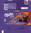 Milka chocolate with milk crispy caramelised almond pieces, 100g, 12.10.2014, Mondelez International, Mondelez Baltic, Kaunas, Lithuania, made in Germany