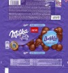 Milka, milk chocolate, with aerated milk chocolate, 90g, 25.08.2015, Mondelez Polska Production sp.z.o.o., Kobierzyce, Poland
