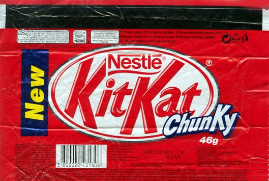 KitKat Chunky, milk chocolate with wafer, 46g, 24.01.2003, Nestle Sofia A.D, Sofia, Bulgaria