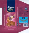 Alpen Gold, milk chocolate with raisins and nuts, 100g, 30.09.2006, Kraft Foods Polska S.A, Jankowice, Tarnowo Podgorne, Poland