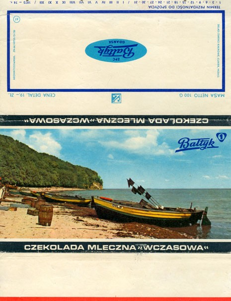 Wczasowa, milk chocolate, 100g, 15.07.1973, Baltyk ZPC, Gdansk, Poland