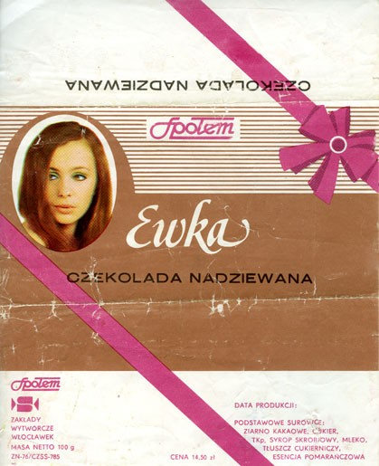 Ewka, milk chocolate, 100g, 1977, Spolem, Poland