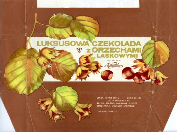 Milk chocolate with nuts, 150g, 13.11.1975, E.Wedel, Warszawa, Poland