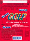 Golf, compound milk chocolate, 11g, 08.2001, Produced by Ulker Gida Sanay Ticaret A.S, Stanbul, Turkey