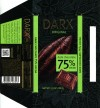 Darx, dark chocolate 75% cocoa, 100g, 02.08.2013, Babaevsky Confectionary Concern OAO, Moscow, Russia