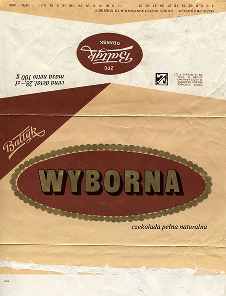 Wyborna, dark chocolate, 100g, 6.11.1979, Baltyk ZPC, Gdansk, Poland
