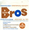 Bros, milk air chocolate, 1970, Bensdorp, Netherlands