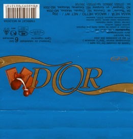 Dor, diabetic milk chocolate, 20g, 16.05.2005, Bucuria, Kishinev, Moldova
