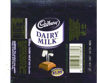 Milk chocolate, 07.06.2006, Cadbury South Africa Ltd., Port Elizabeth, South Africa