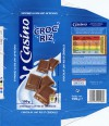 Milk chocolate with rice and cereals, 100g, 02.2014, Casino, Saint-Etienne Cedex 2, France