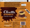 Cloetta sprinkle milk chocolate with wafers crumbs and mango pieces, 75g, 21.03.2016, Cloetta Suomi Oy, Turku, Finland