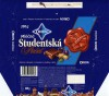 Orion, Studentska Pecet, milk chocolate with raisins, hazelnuts and jelly, 200g, 05.1996, Cokoladovny a.s., o.z. Orion, Czech Republic