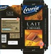 Ivoria, milk chocolate with caramel crunch, 100g, 02.2007, DIPA TSA 40005, Perpignan Cedex 9 , France