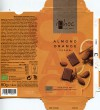 ichoc feel free, milk chocolate with almond and orange flauvoured, 80g, 07.2015, EcoFinia GmbH, Herford, Germany/ art work Annette Wessel