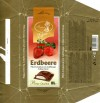Erdbeere, milk chocolate with half liquid strawberry flavoured filling, 100g, 20.12.2005, Elysia, Elysberg Confiserie, Berlin, Germany