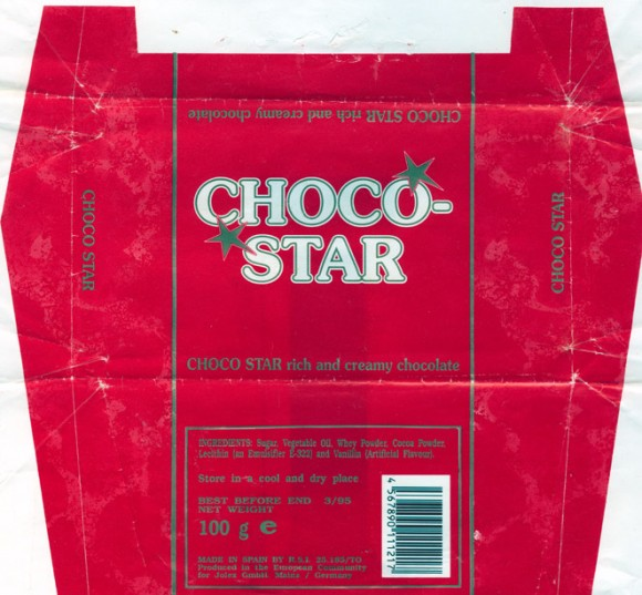 Chocostar rich and creamy chocolate, 100g, 