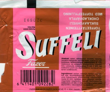 Suffeli,nilk chocolate with wafer, 21g, 02.08.1992