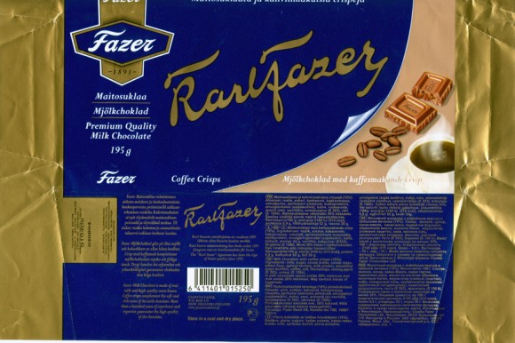 Karlfazer, milk chocolate with coffee crisps, 195g, 04.06.2004