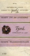 Fine milk chocolate, about 1960, Fjord S.A Geneve, Switzerland