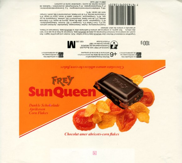 Sun Queen, dark chocolate with fruits, 100g, Chocolat Frey AG, Buchs/Aargau , Switzerland