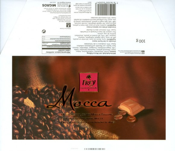 Mocca, milk chocolate with mocca filled, 100g, 2003, Chocolat Frey AG, Buchs/Aargau , Switzerland