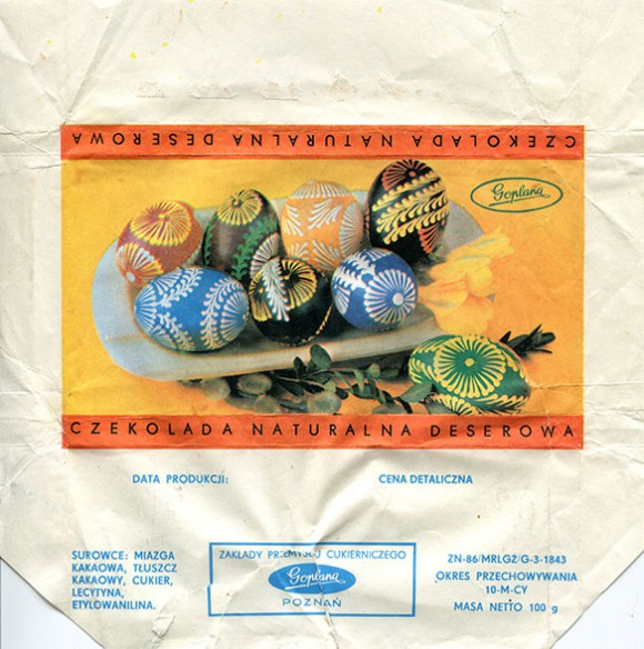 Dessert chocolate, 100g, about 1990, Goplana, Poznan, Poland
