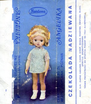 Angelika, filled chocolate, 52g, about 1980, Goplana, Poznan, Poland