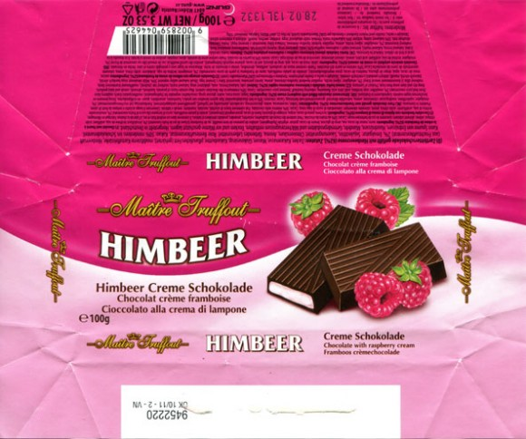 Chocolate with raspberry cream, 100g, 28.02.2012, Gunz, Mader, Austria