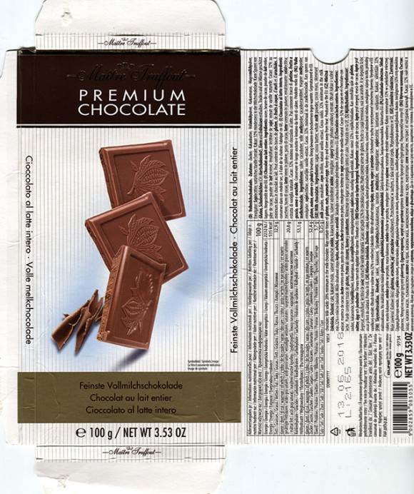 Milk chocolate, 100g, 13.06.2017, Gunz, Mader, Austria