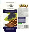 Milk chocolate with raisins and hazelnuts, 100g, 20.06.2011, Heidi Chocolat S.A, Romania