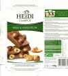 Milk chocolate with whole caramelized hazelnuts, 100g, 03.03.2011, Heidi Chocolat S.A, Romania