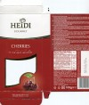 Dark chocolate with candied cherries, 100g, 19.01.2018, produced in EU, Heidi Chocolat S.A, Pantelimon, Romania