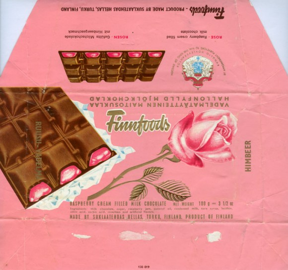 Rose, Finnfoods, Hellas, raspberry cream filled milk chocolate, 100g, Hellas, Turku, Finland