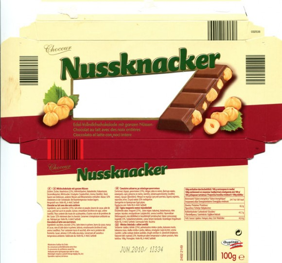Nussknacker, milk chocolate with nuts, 100g, 06.2009, Hofer KG, Sattledt, Austria