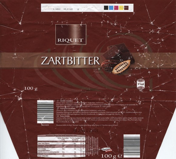 Dark chocolate, 100g, 08.2013, Hofer KG, Sattledt, Austria