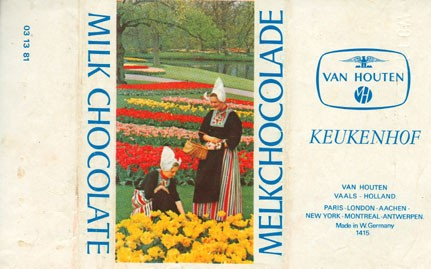 Milk chocolate, keukenhof, about 1980, Van Houten, W.Germany