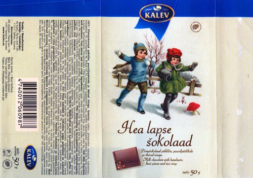 Milk chocolate, 50g, 08.2003, Kalev, Tallinn, Estonia