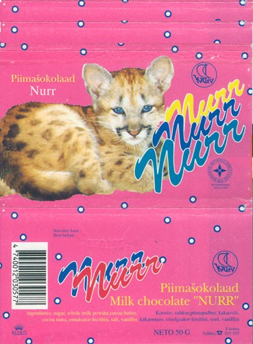 Nurr, milk chocolate, 50g, 14.01.1994